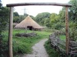 Replica Iron Age roundhouse at the Chiltern Open Air Museum
