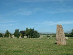 Standing stones in Cumbria known as Long Meg and her Daughters