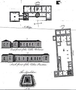 Hayman Rooke's plan of the Roman villa.