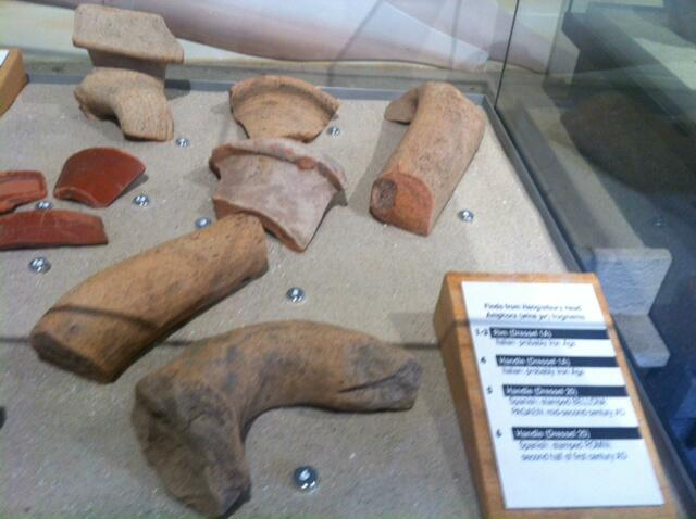 Fragments of Roman amphorae found off Hengistbury Head dating to c. 100 BC © Red House Museum