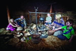 Inside the roundhouse at Navan Fort. Courtesy of Navan Centre & Fort.
