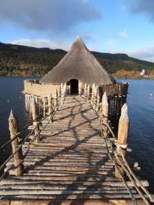 View of the Scottish Crannog Centre. Courtesy of the Scottish Crannog Centre www.crannog.co.uk