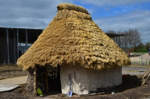 Neolithic House number 1 completed at Stonehenge, courtesy English Heritage